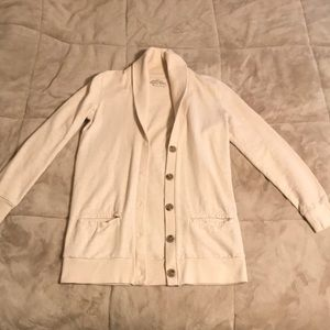 J. Crew Rumpled French Terry Cardigan